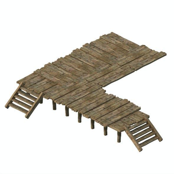Wooden board - corridor stairs 03