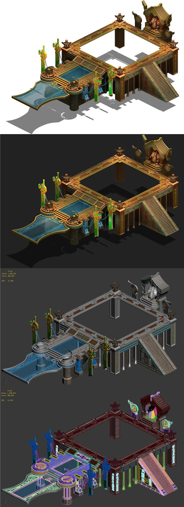 Tomb - the main platform - 3DOcean Item for Sale