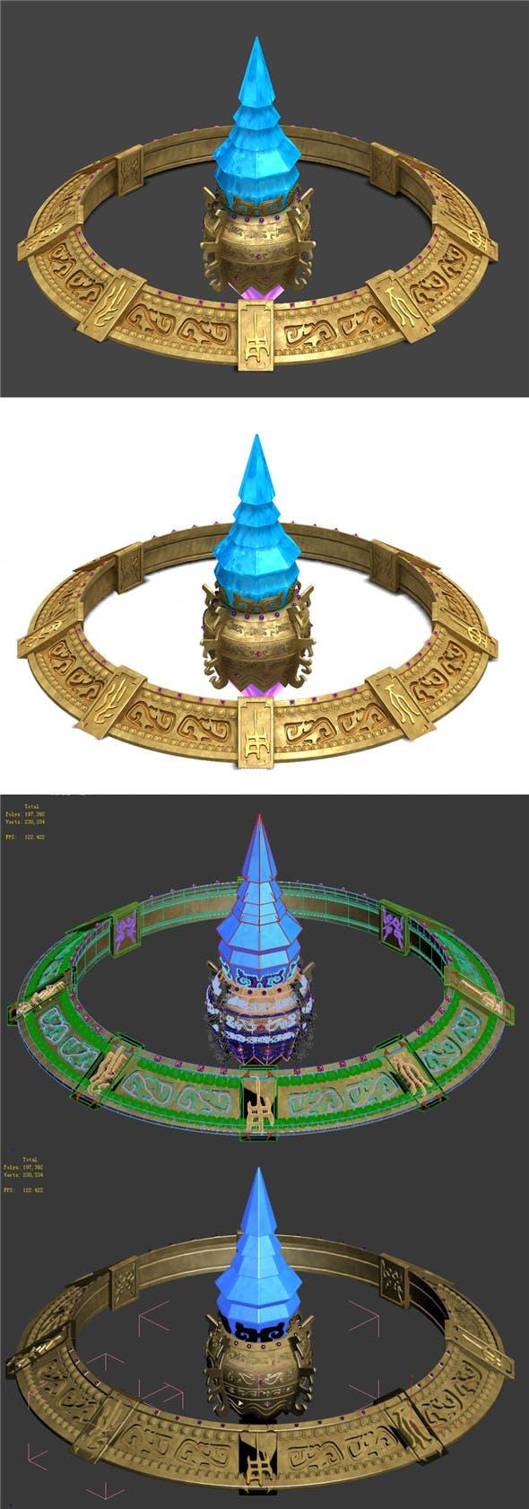 Twilight Circle - Magic Halo - 3DOcean Item for Sale