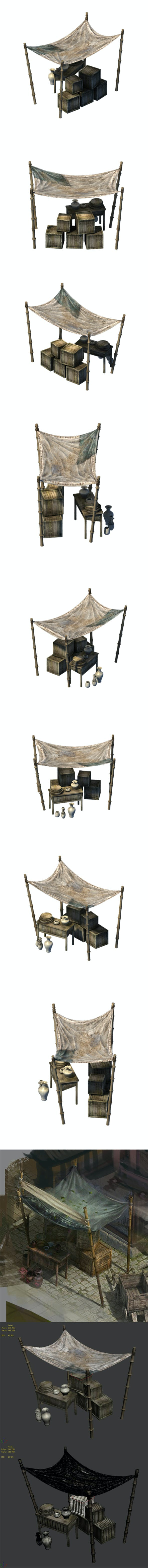 Accessories - wind are grassland - bamboo shed 01 - 3DOcean Item for Sale