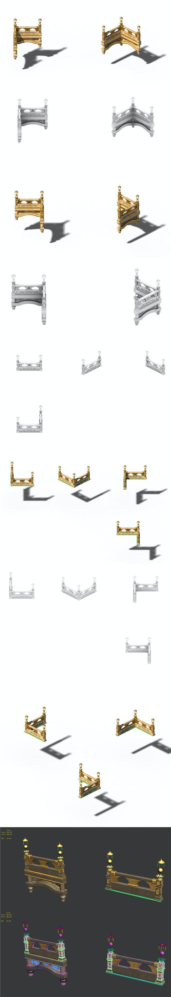 Accessories - wonderful fantasy - railings 01 - 3DOcean Item for Sale