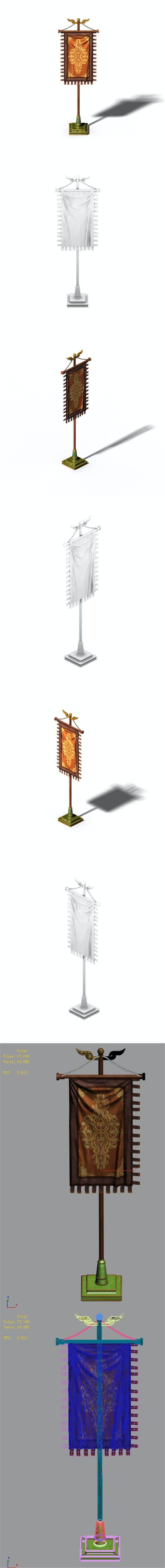 Accessories - wonderful fantasy - flag 01 - 3DOcean Item for Sale
