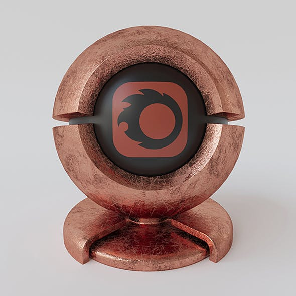 Old copper material for corona render 1.5