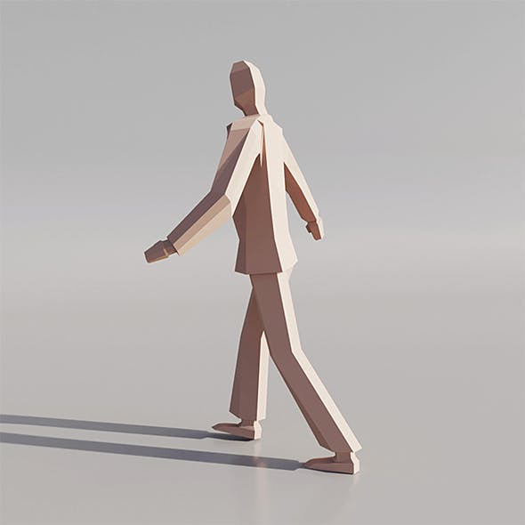 Low poly human