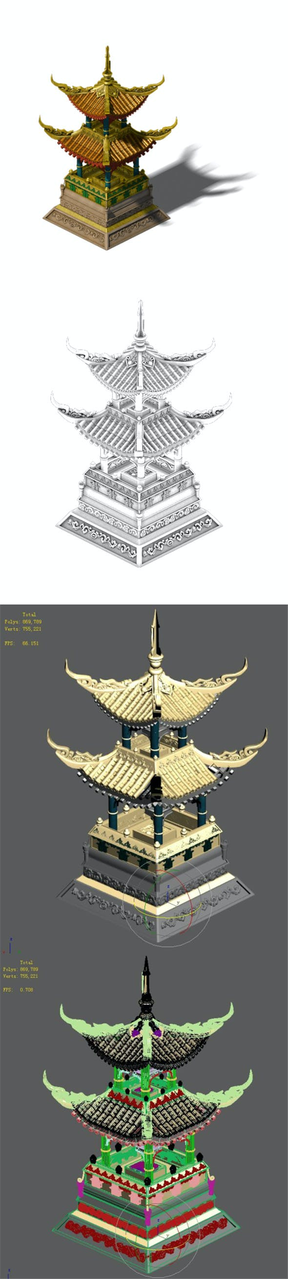 Wonderful fantasy - decorative floor lamp - 3DOcean Item for Sale