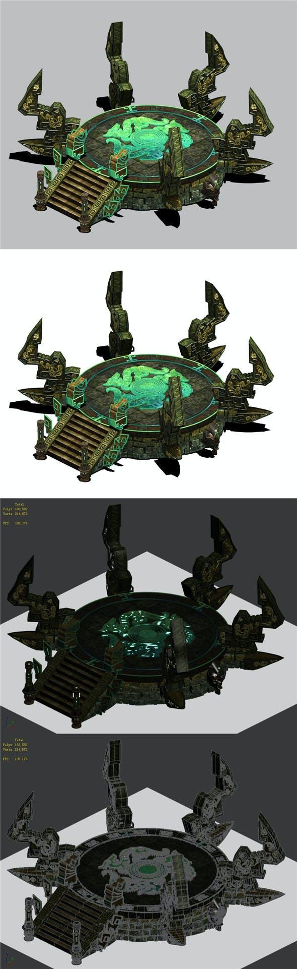Qiyuan Island - altar high platform - 3DOcean Item for Sale