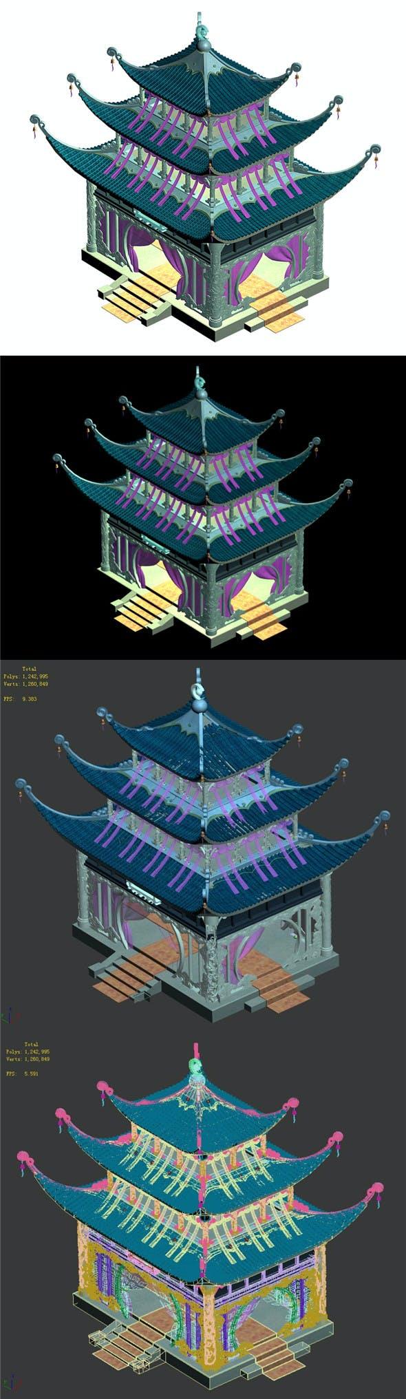 Riyue Island - Palace - 3DOcean Item for Sale