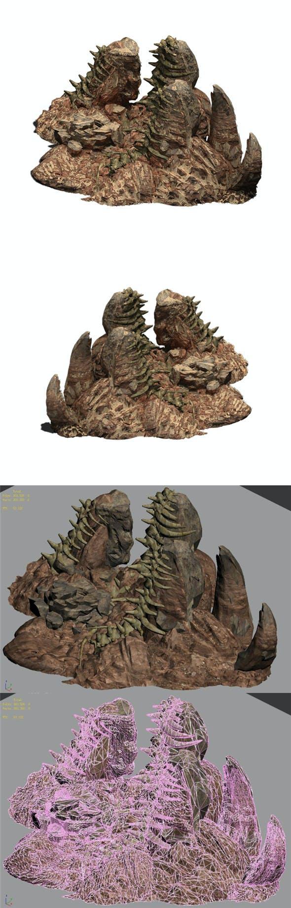 Desert - BOSS Altar Fossil Bones 02 - 3DOcean Item for Sale
