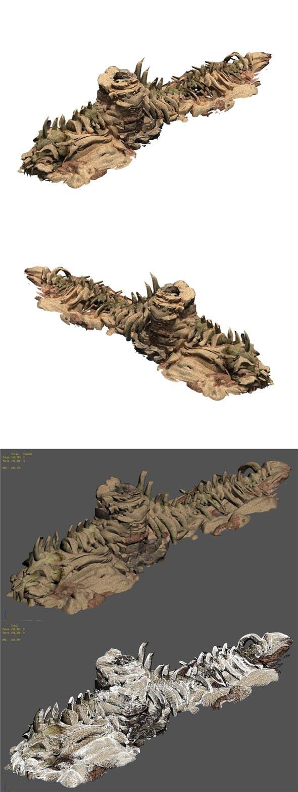 Desert - BOSS Altar Fossil Bones 03 - 3DOcean Item for Sale