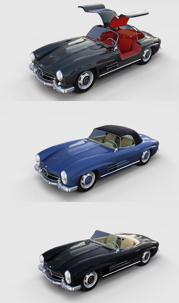 Mercedes 300SL with interior Pack - 3DOcean Item for Sale