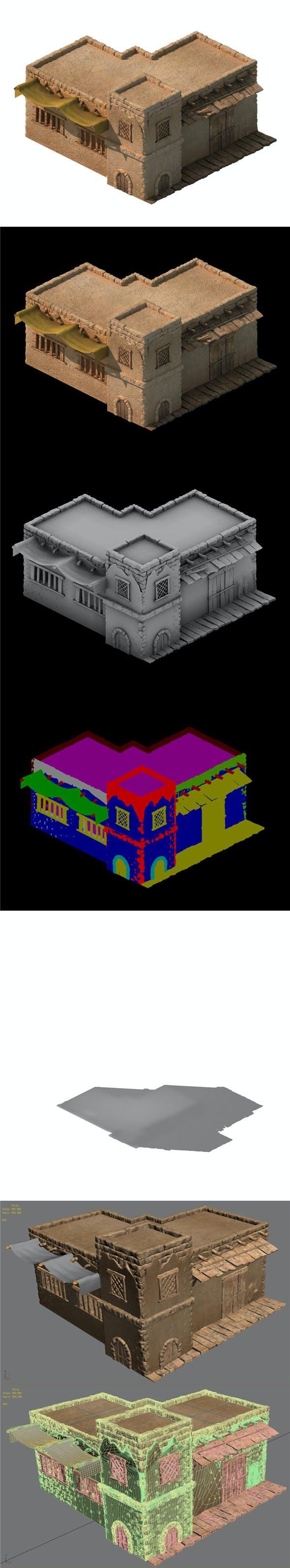 Desert Ancient Battlefield - House 04 - 3DOcean Item for Sale
