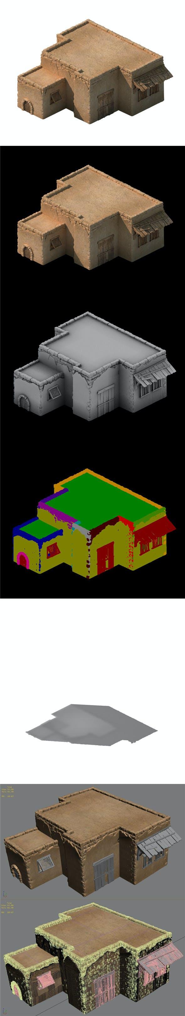 Desert Ancient Battlefield - House 06 - 3DOcean Item for Sale