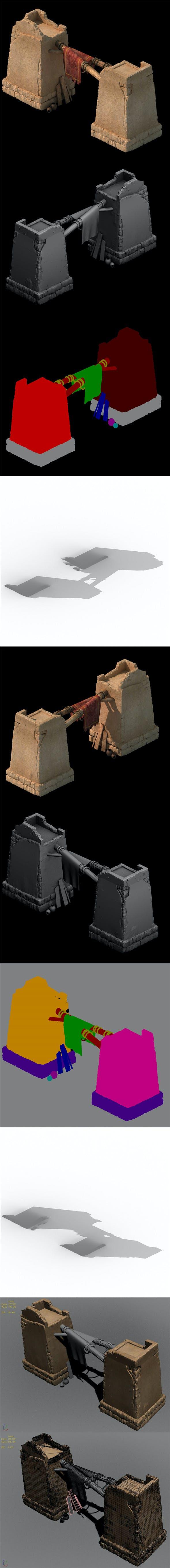 Desert ancient battlefield - fence - 3DOcean Item for Sale