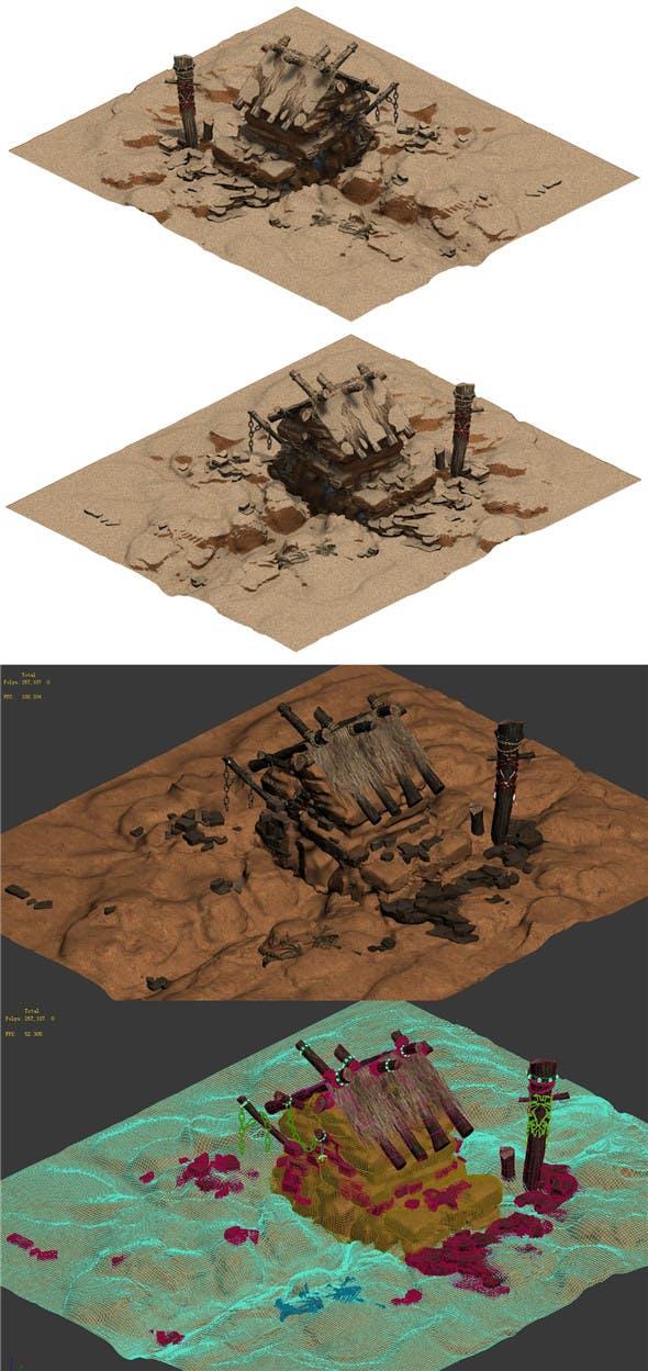 Desert - Monster Lair 002 - 3DOcean Item for Sale