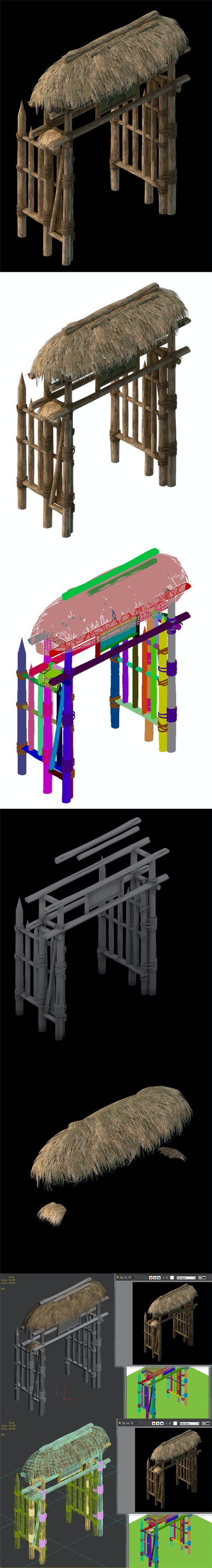 Cottage Horde - Gate Arch 01 - 3DOcean Item for Sale