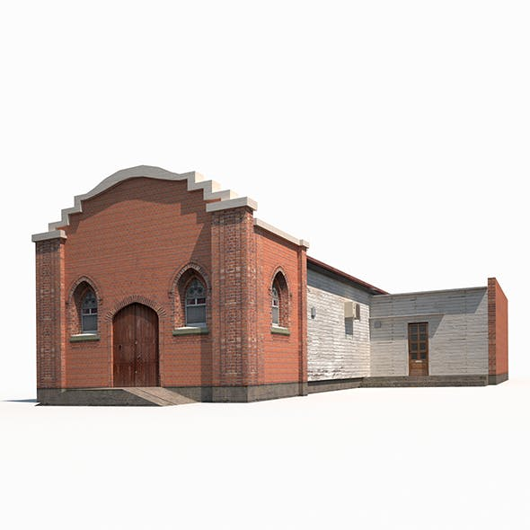 Church Old Building Low Poly - 3DOcean Item for Sale