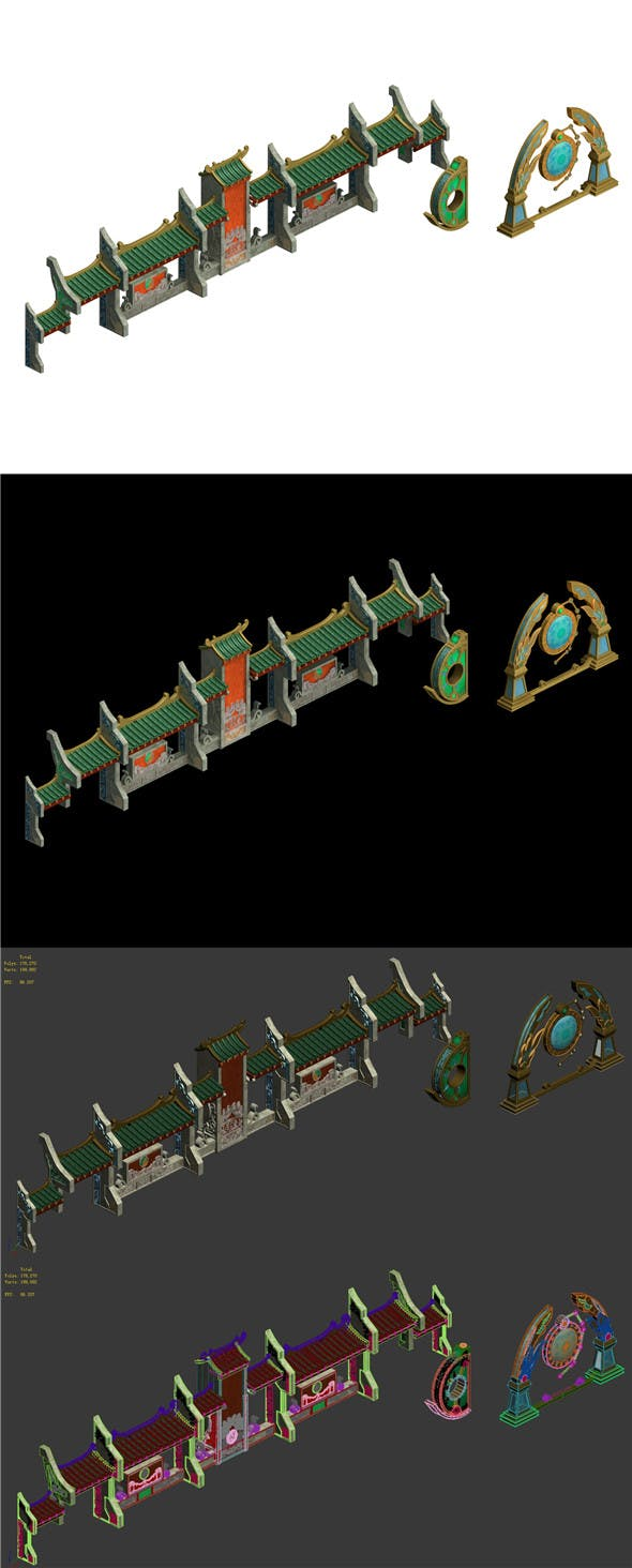 Tongling Tower - accessories - 3DOcean Item for Sale