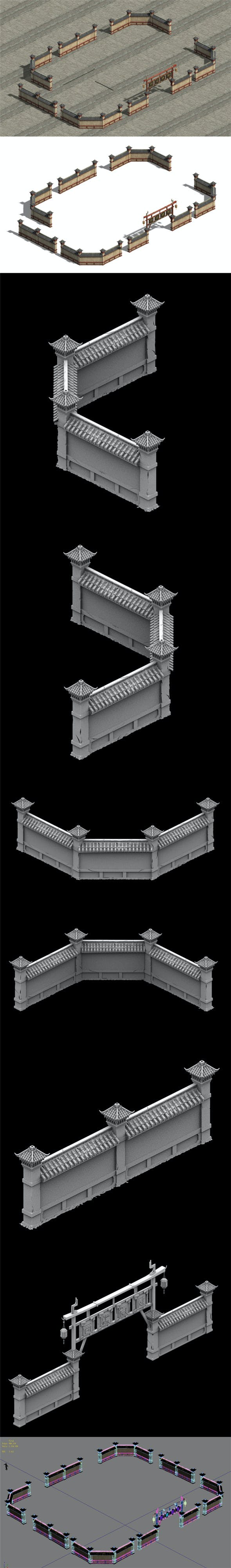 Wangcheng Escort - the fence - the door - 3DOcean Item for Sale
