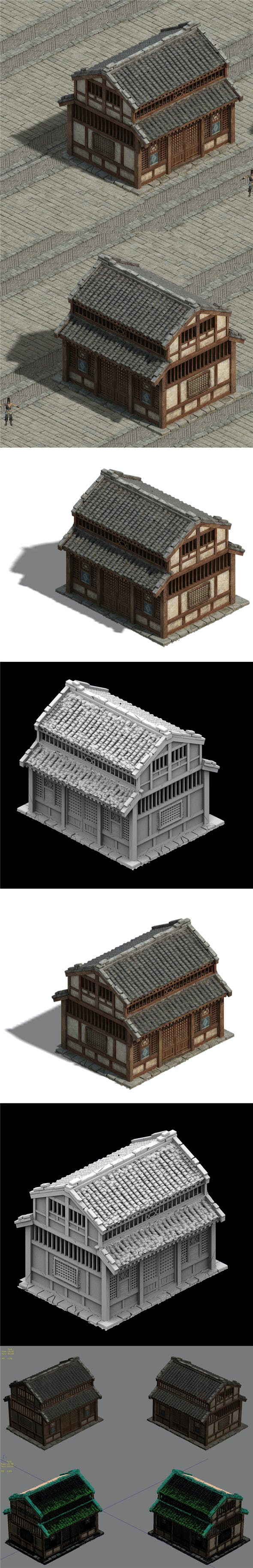 Wangcheng - ordinary houses 02 - 3DOcean Item for Sale