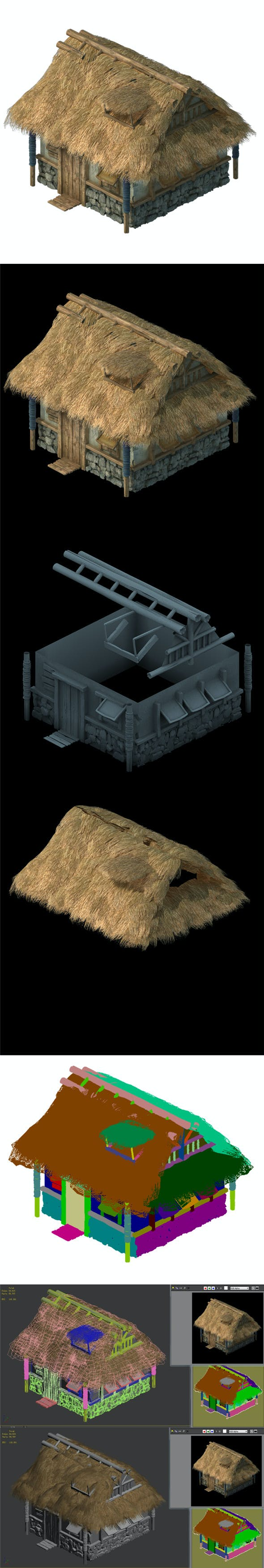 Field Hunter - Habitat Cottage 04 - 3DOcean Item for Sale
