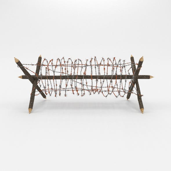 Barb Wire Obstacle 1 - 3DOcean Item for Sale