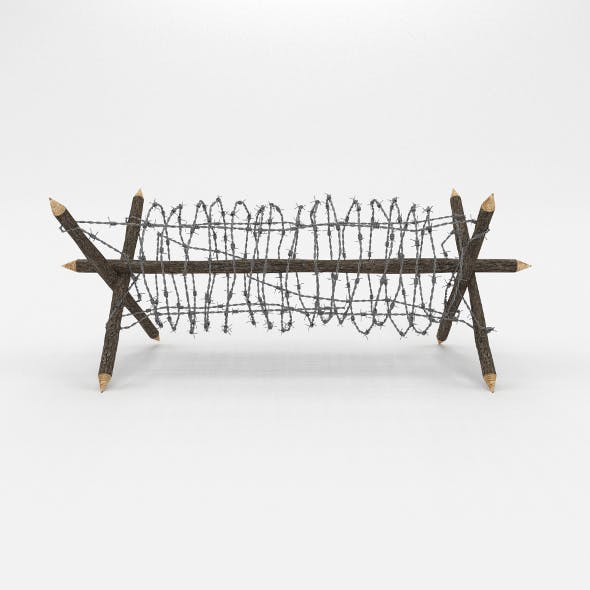 Barb Wire Obstacle 2 - 3DOcean Item for Sale