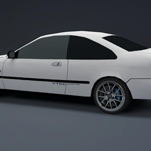 Low Poly Honda Civic EJ Coupe