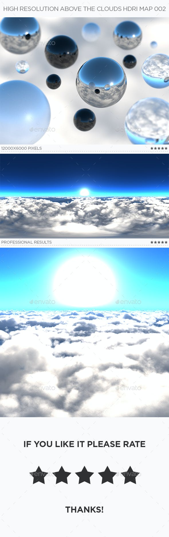 High Resolution Above The Clouds HDRi Map 002 - 3DOcean Item for Sale