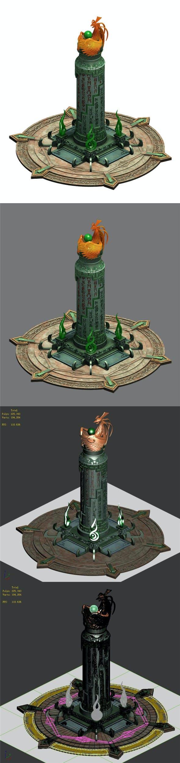 Decoration - pillars - 3DOcean Item for Sale