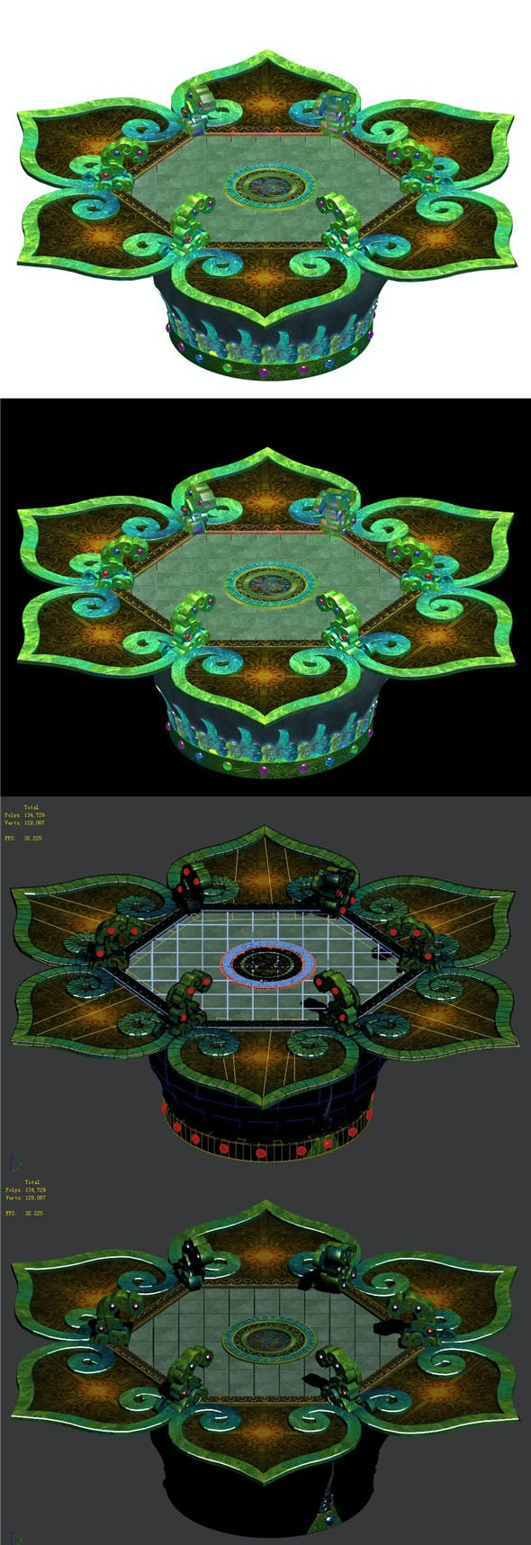Religion - Altar Platform 02 - 3DOcean Item for Sale