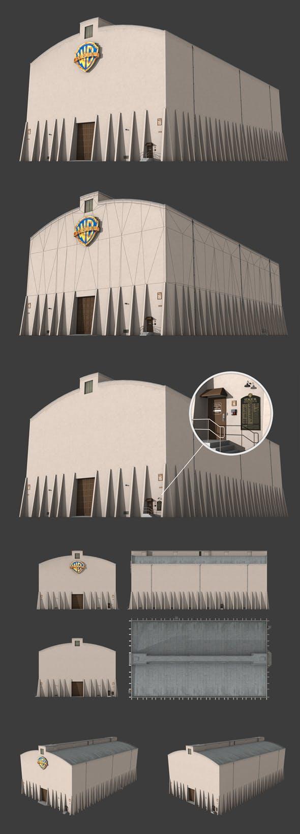 Warner Brother's Sound Stage Building - 3DOcean Item for Sale