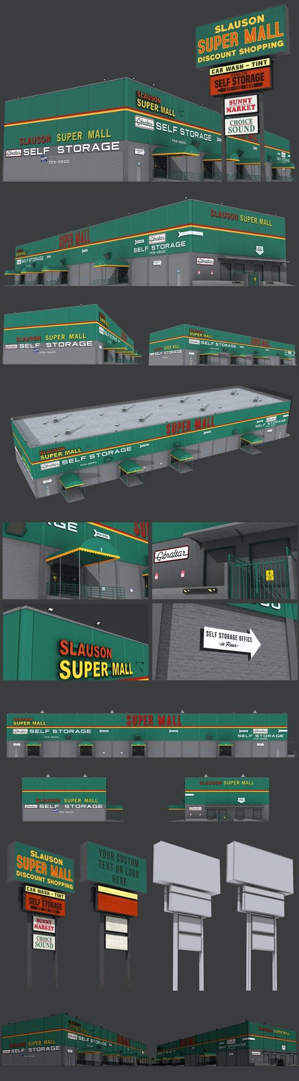 Slauson Super Mall Building - 3DOcean Item for Sale