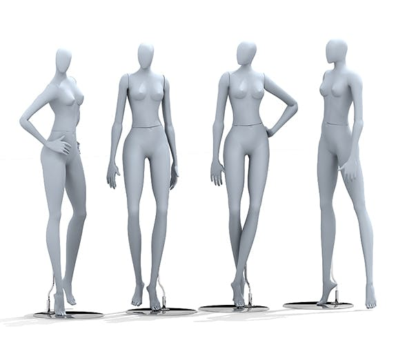 Mannequin 3ds max - 3DOcean Item for Sale