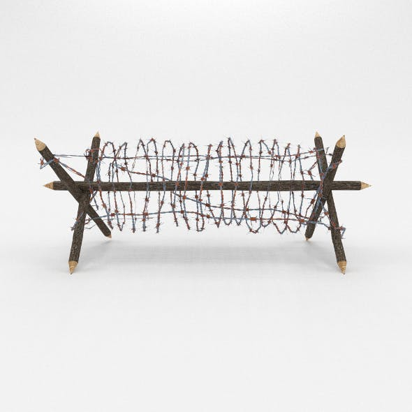 Lowpoly Barb Wire Obstacle 1