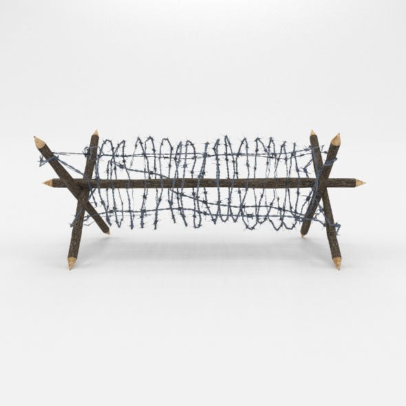 Lowpoly Barb Wire Obstacle 2 - 3DOcean Item for Sale