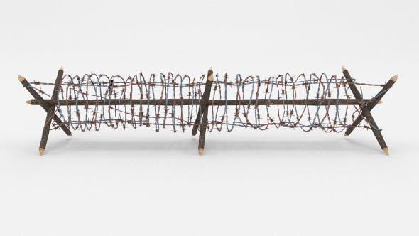Lowpoly Barb Wire Obstacle 3 - 3DOcean Item for Sale
