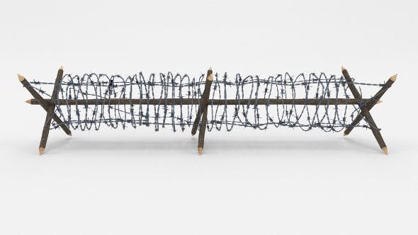Lowpoly Barb Wire Obstacle 4 - 3DOcean Item for Sale