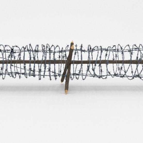 Lowpoly Barb Wire Obstacle 4