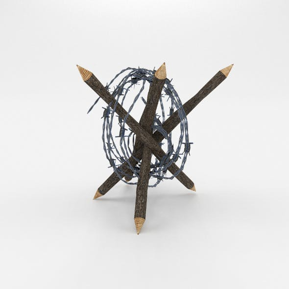 Lowpoly Barb Wire Obstacle 6 - 3DOcean Item for Sale