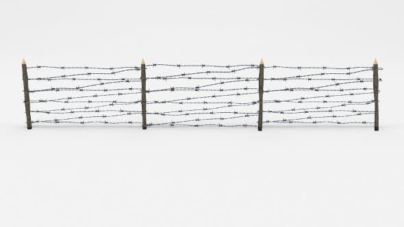 Lowpoly Barb Wire Obstacle 8 - 3DOcean Item for Sale