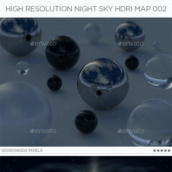 High Resolution Night Sky HDRi Map 002