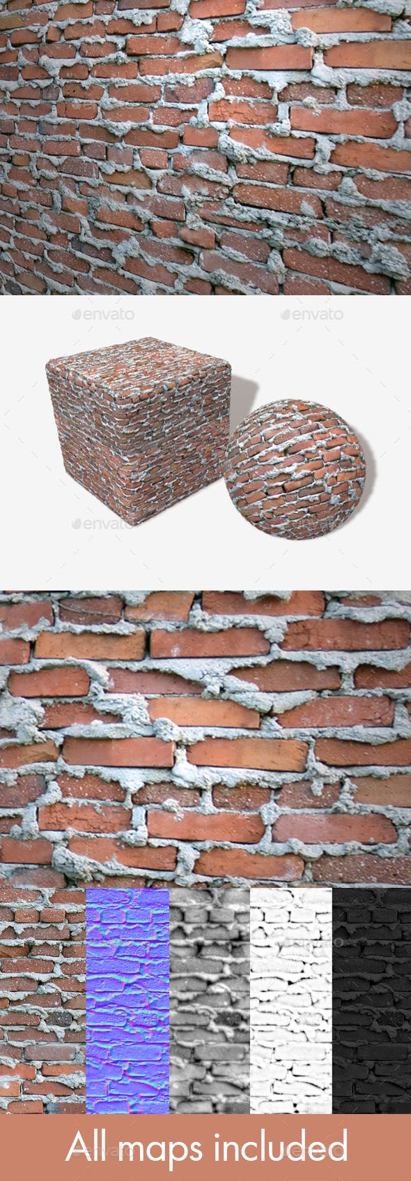 Extremely Bad Brickwork Seamless Texture - 3DOcean Item for Sale