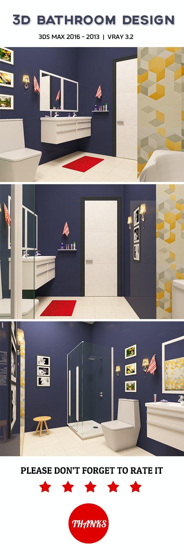 3D Bathroom Design 3 - 3DOcean Item for Sale