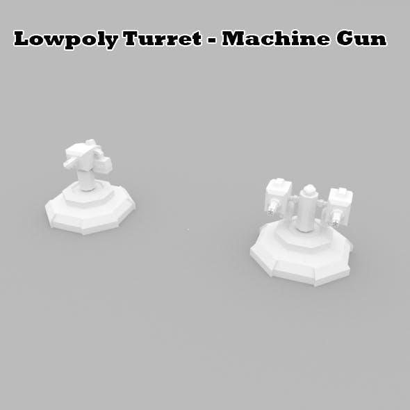 Lowpoly Turret Machine Gun