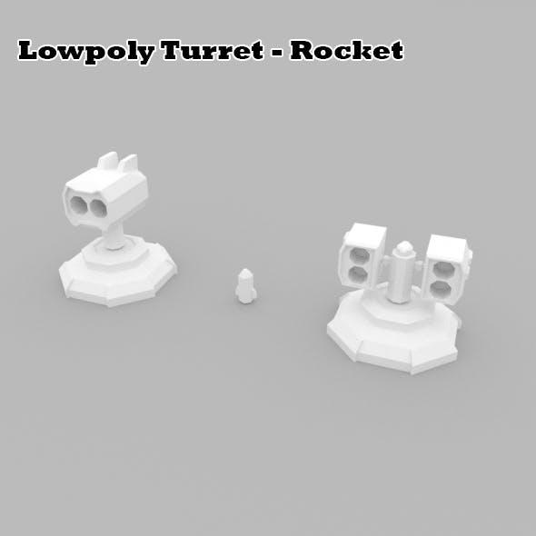 Lowpoly Turret Rocket