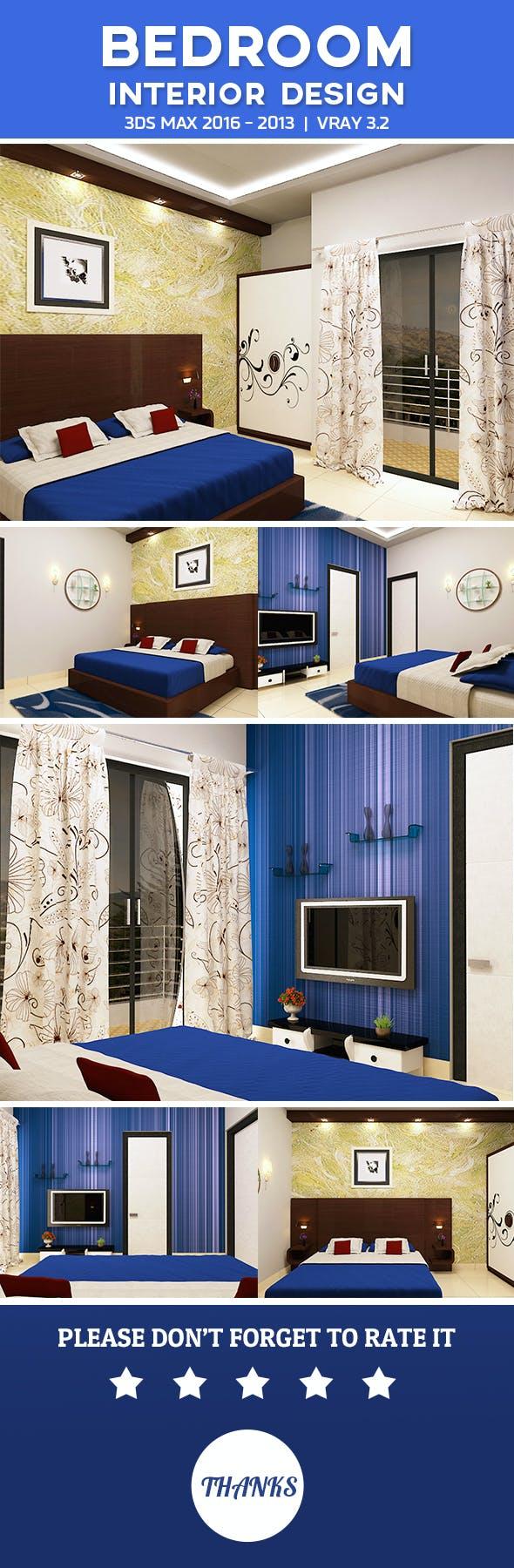 3D Bedroom Interior 2 - 3DOcean Item for Sale