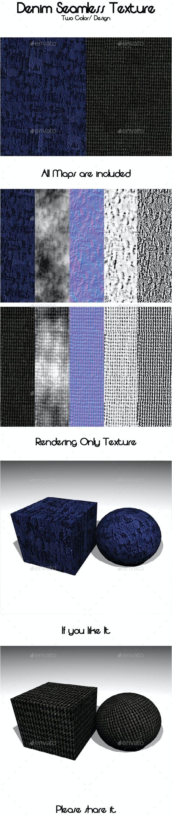 Denim Seamless Texture - 3DOcean Item for Sale