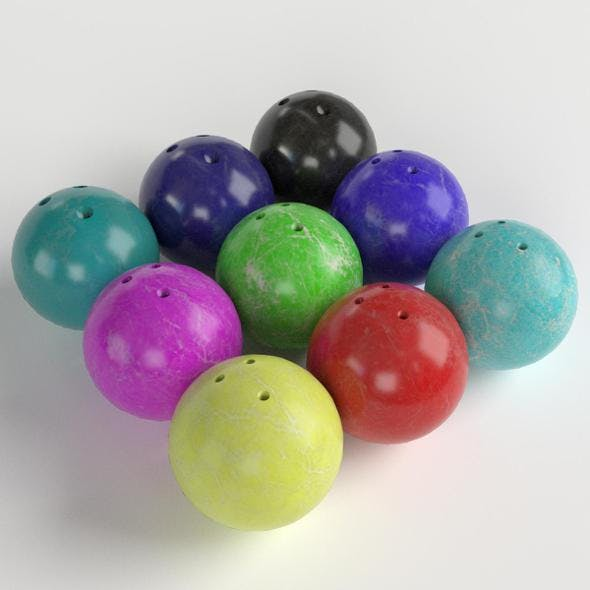 Bowling Balls - 3DOcean Item for Sale