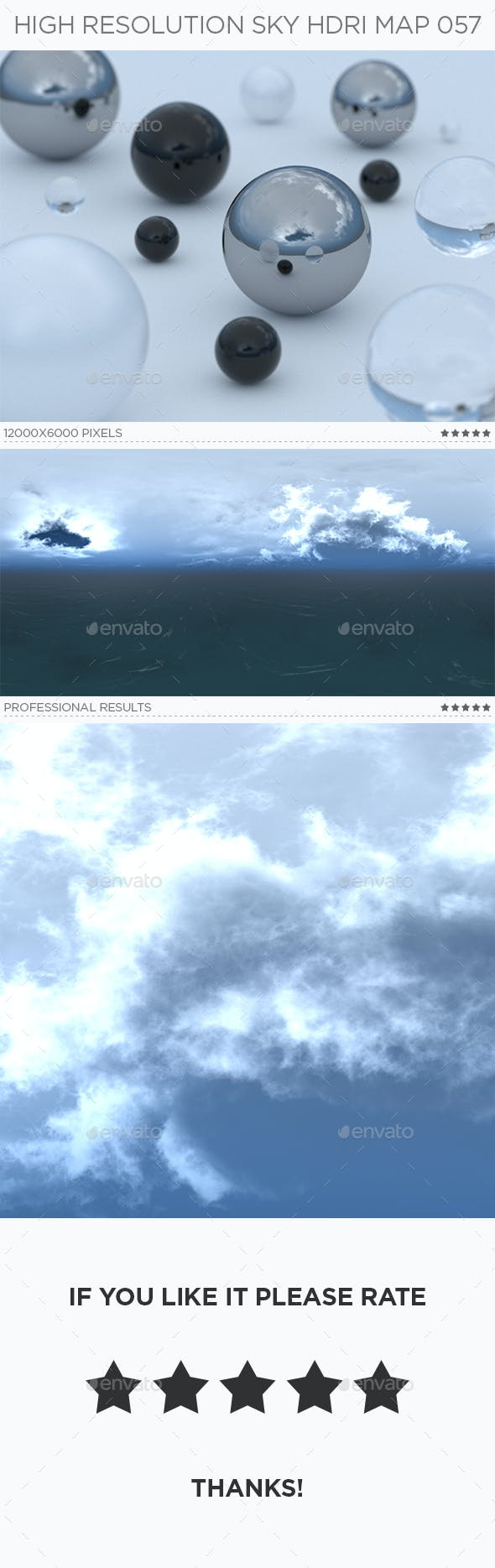 High Resolution Sky HDRi Map 057 - 3DOcean Item for Sale