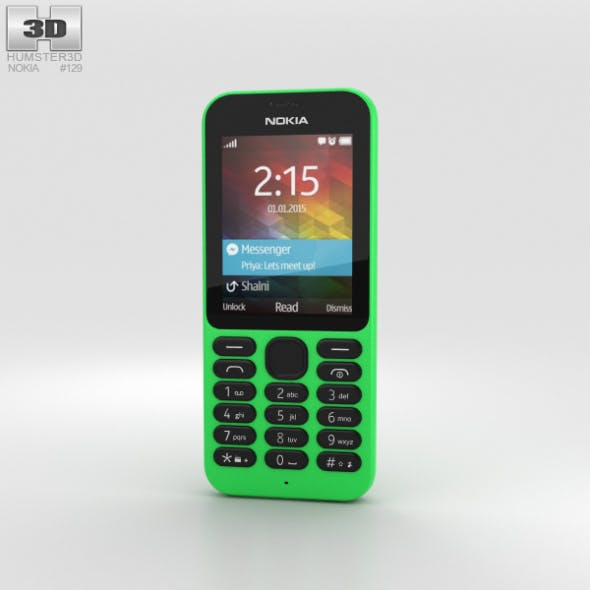 Nokia 215 Green - 3DOcean Item for Sale